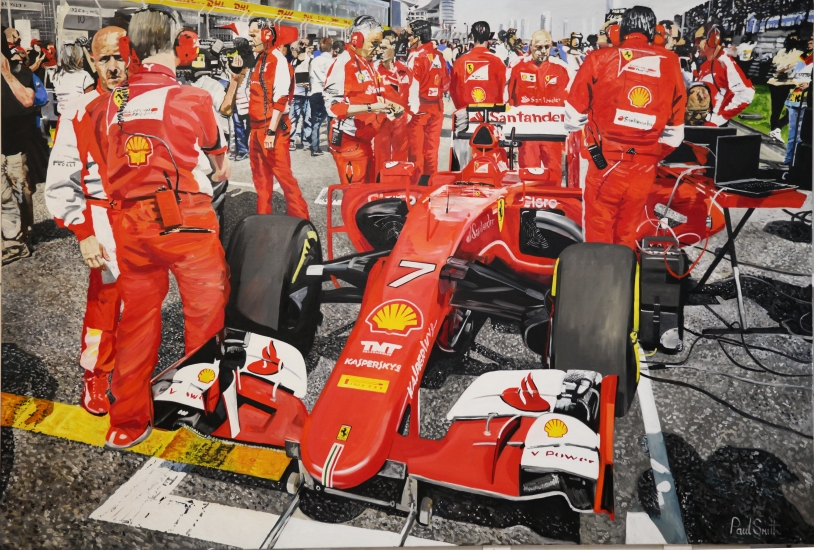 Shanghi, F1 GP of China.|On the starting grid with the Ferrari of KimiRaikkonen.|72 x 108 inches ( 183 x 275 cm).|For sale  � SOLD
