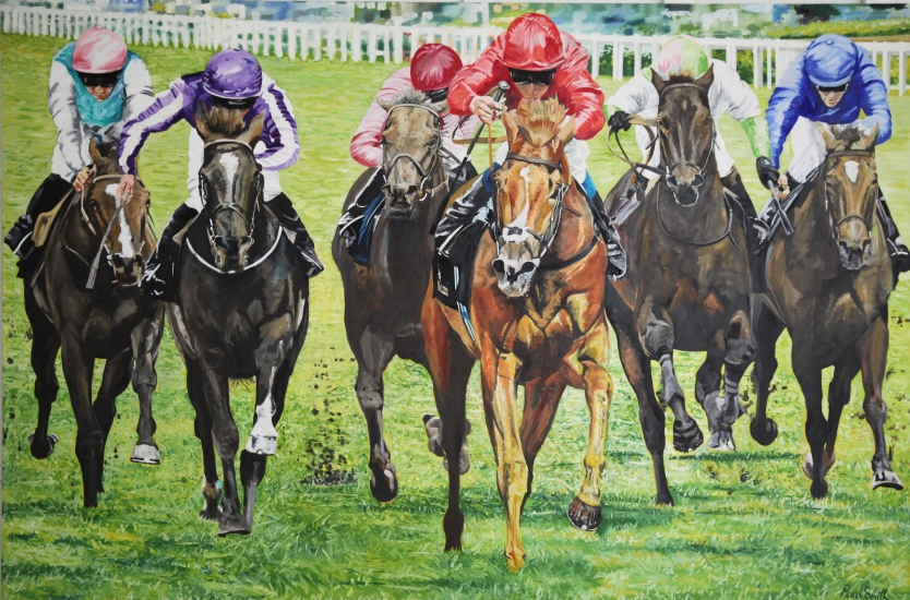 Eagle Top pulls away and wins 2014 King Edward VII Stakes, Royal Ascot.|72 x 108 inches (183 x 275 cm).|Price £ POA