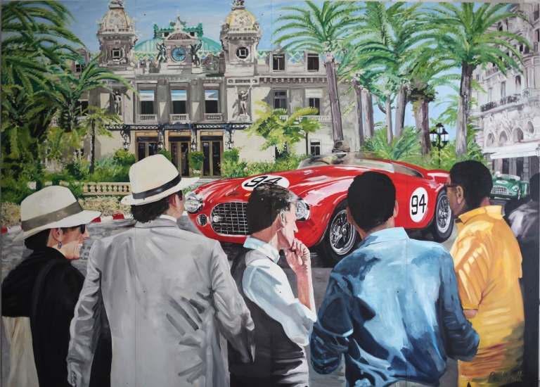 Monaco 1952.|JD Classics,Mount Row,Mayfair,London.|Mural,Original Oil on Panel.|102 x 146 inches (260 x 370cm).|� Sold