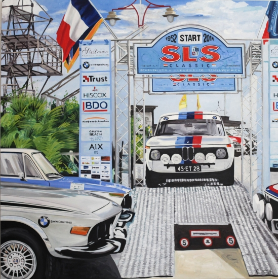 SLS Rally.|Original Oil on canvas.|72 x 72 inches (183 x 183 cm).|� Sold
