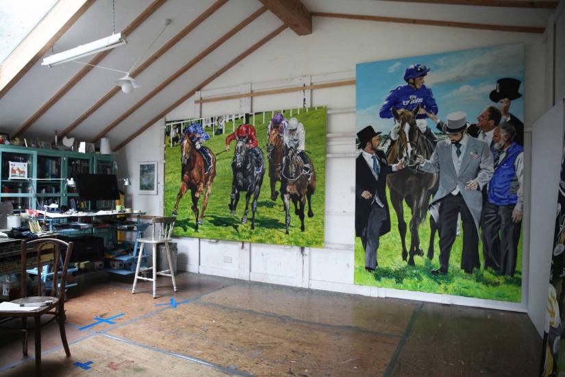 Studio image 1, Masar 2018 Epsom Derby.