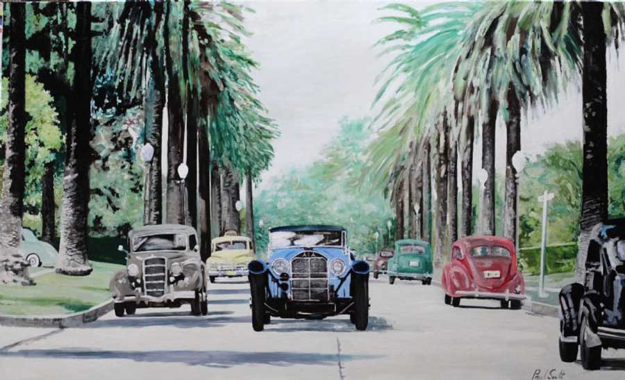 Mercedes SSK in California. 24 x 40 inches (61 x 102 cm). � POA