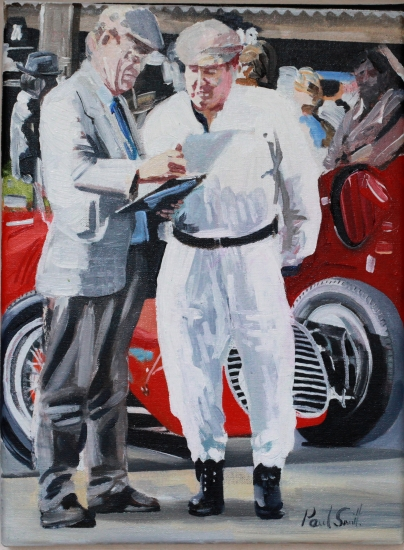 Paddock scene Goodwood.|16 x 12 inches (41 x 31 cm).| Oil on canvas.|� 650.00