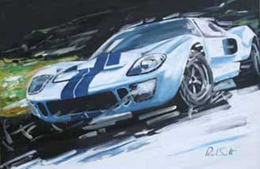 Ford GT40. Oil on canvas 24 x 36 inches (61 x 91 cm). �Sold