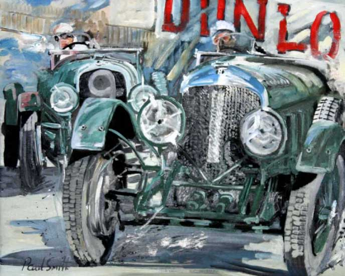 Le Mans 1929. Oil on canvas 24 x 30 inches (61 x 76 cm). SOLD