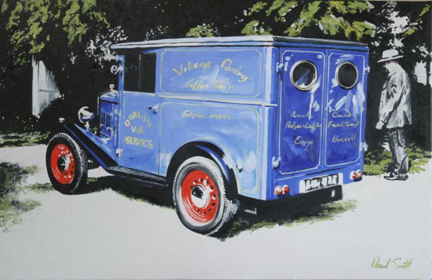 Old Blue van. Oil on canvas 36 x 46 inches (91 x 117cm). �POA