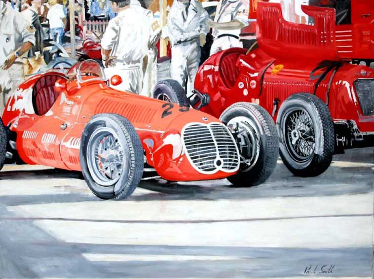 Maserati at Goodwood. 36 x 48 inches (91 x 122)cm. SOLD
