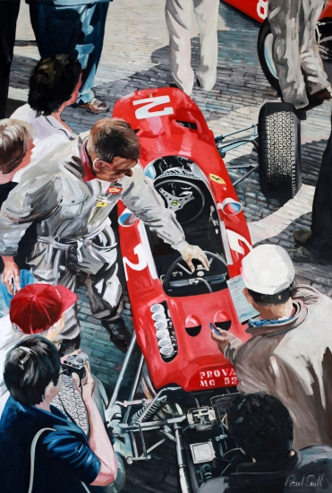 Ferrari 1512 at Monza.|Oil on canvas.|108 x 72 inches (275 x 183 cm).|� SOLD