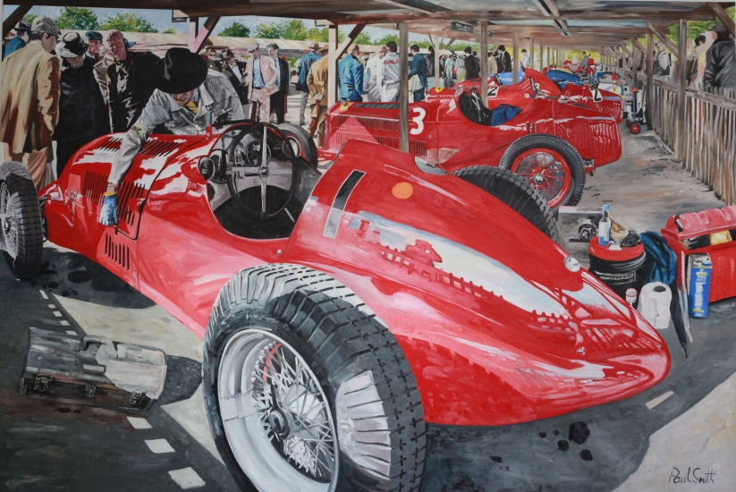 Goodwood Revival 2013,Alfa Romeo 308C,|72 x 108 inches (183 x 275 cm),| SOLD