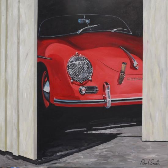 Porsche 356 Speedster,|oil on canvas,|46 x 46 inches (117 x 117 cm),|£Sold