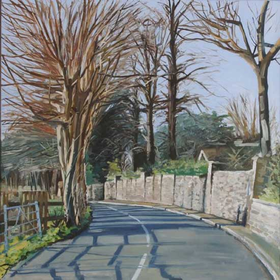 Calis Court Road, Morning. Oil on canvas 36 x 36 inches (92 x 92 cm). £ POA