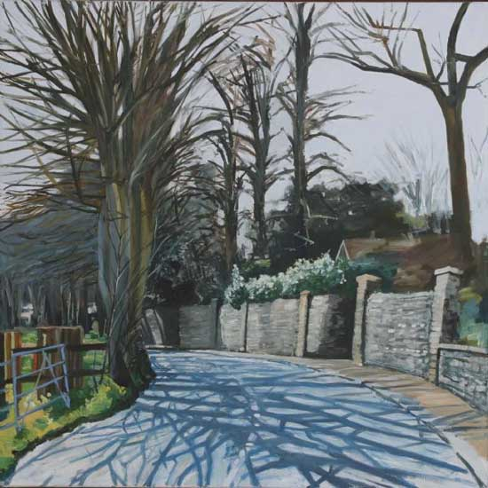 Calis Court Road, Midday. Oil on canvas 36 x 36 inches (92 x 92 cm). £ POA