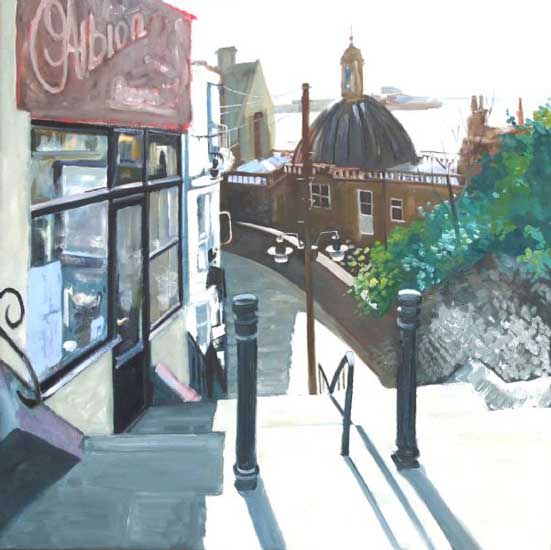 Ramsgate Harbour, Morning. Oil on canvas 36 x 36 inches (92 x 92 cm). £ POA