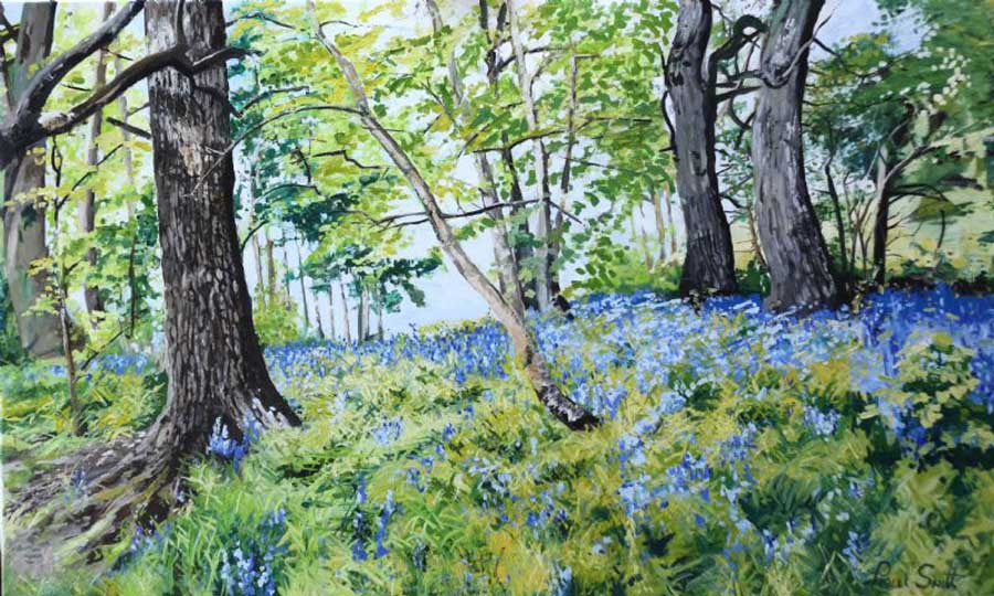 Blue Bell woods Canterbury. 91 x 152 cm (36 x 60 inch). SOLD