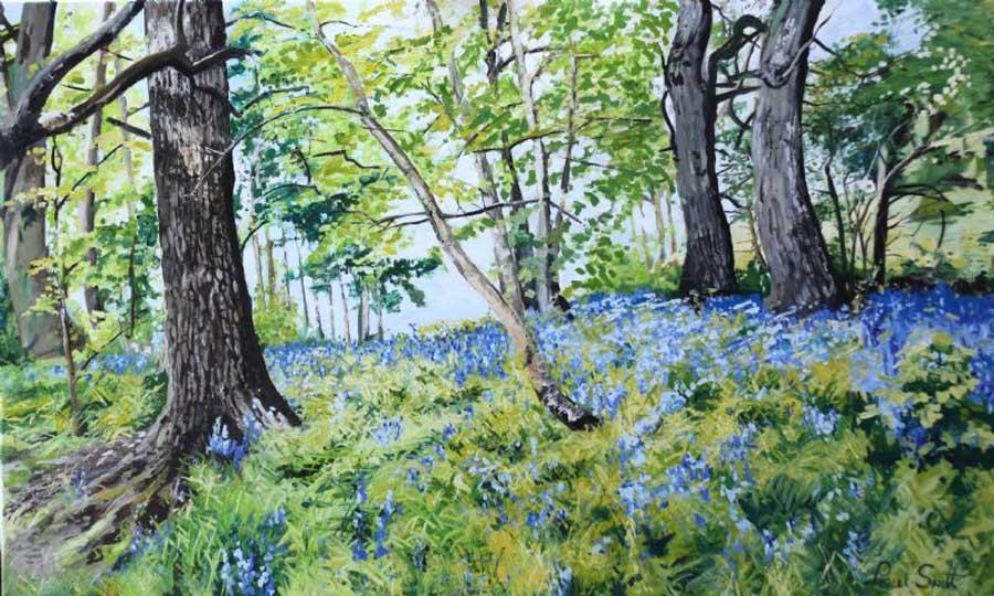 Blue Bell woods Canterbury. 91 x 152 cm (36 x 60 inch). £