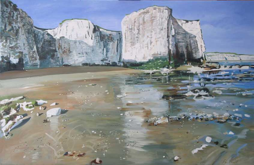 Botany Bay, Kingsgate, Broadstairs.. Oil on canvas 42 x 65 inches (107 x 165 cm). £ POA