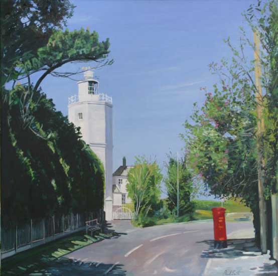 North Foreland Lighthouse. Oil on canvas 40 x 40 inches (102 x 102 cm). £ POA